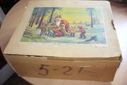 Набор ёлочных антикварных игрушек в фирменной коробке гдр
